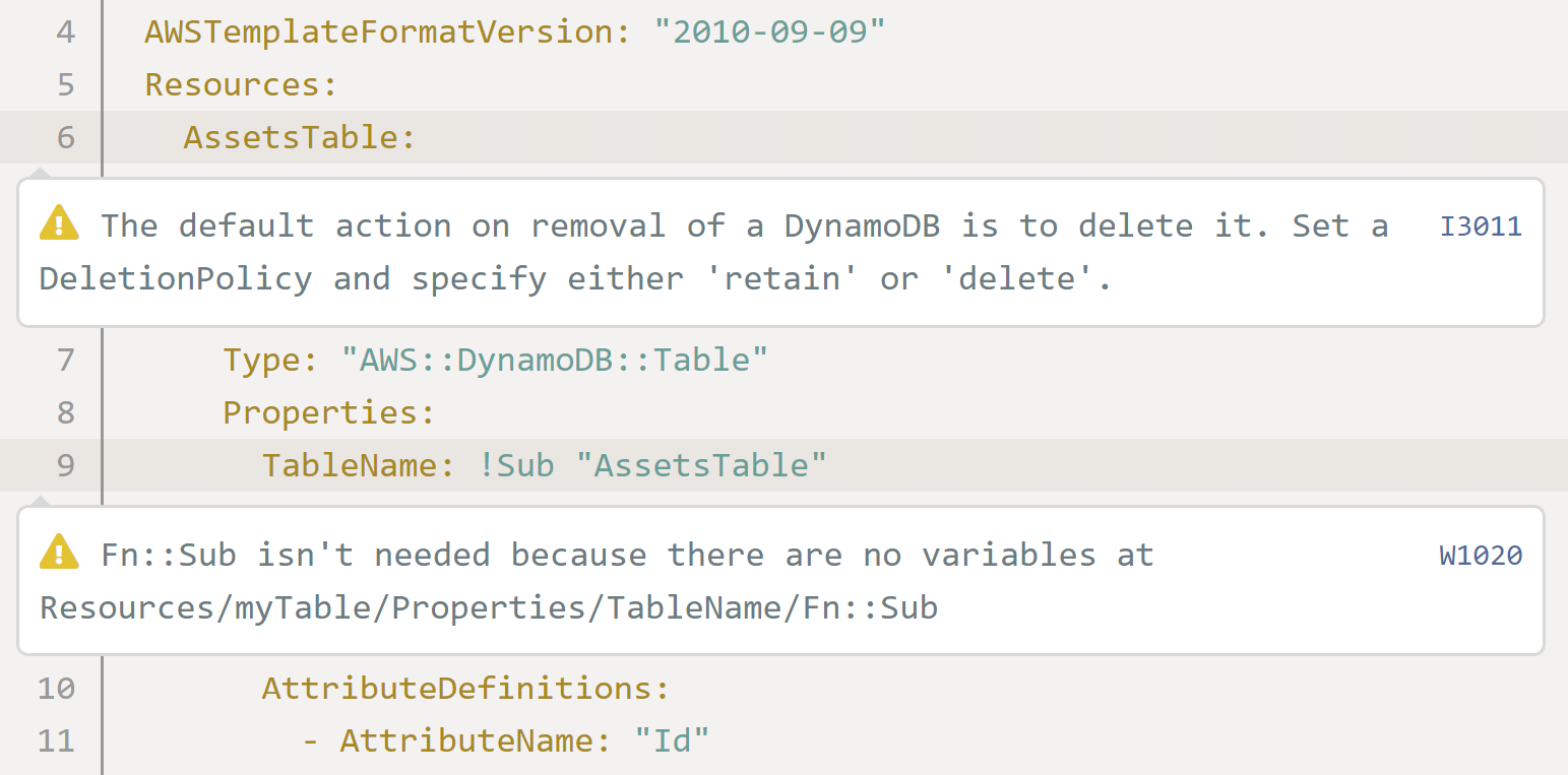 AWS CloudFormation - DynamoDB deletion policy